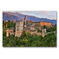 Premium Textil-Leinwand 90 x 60 cm Quer-Format Alhambra in Granada | Wandbild, HD-Bild auf Keilrahmen, Fertigbild auf hochwertigem Vlies, Leinwanddruck von (c) 2019 by Atlantismedia