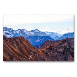 Premium Textil-Leinwand 90 x 60 cm Quer-Format Allgäu, Berge, Wiesen, Seen und Kühe. | Wandbild, HD-Bild auf Keilrahmen, Fertigbild auf hochwertigem Vlies, Leinwanddruck von VogtArt