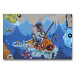 Premium Textil-Leinwand 90 x 60 cm Quer-Format Am Meer | Wandbild, HD-Bild auf Keilrahmen, Fertigbild auf hochwertigem Vlies, Leinwanddruck von SchnelleWelten