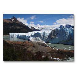 Premium Textil-Leinwand 90 x 60 cm Quer-Format Am Perito-Moreno-Gletscher | Wandbild, HD-Bild auf Keilrahmen, Fertigbild auf hochwertigem Vlies, Leinwanddruck von Flori0