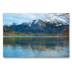 Premium Textil-Leinwand 90 x 60 cm Quer-Format Am Schliersee | Wandbild, HD-Bild auf Keilrahmen, Fertigbild auf hochwertigem Vlies, Leinwanddruck von Ralf Wittstock