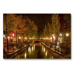 Premium Textil-Leinwand 90 x 60 cm Quer-Format Amsterdam – Rotlichtviertel | Wandbild, HD-Bild auf Keilrahmen, Fertigbild auf hochwertigem Vlies, Leinwanddruck von TJPhotography (Thorsten Jung)