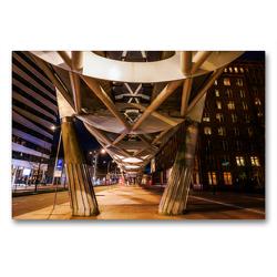 Premium Textil-Leinwand 90 x 60 cm Quer-Format Nachts in Den Haag | Wandbild, HD-Bild auf Keilrahmen, Fertigbild auf hochwertigem Vlies, Leinwanddruck von Christian Müller