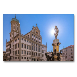 Premium Textil-Leinwand 90 x 60 cm Quer-Format Augsburg 2021 | Wandbild, HD-Bild auf Keilrahmen, Fertigbild auf hochwertigem Vlies, Leinwanddruck von Norbert Liesz