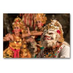 Premium Textil-Leinwand 90 x 60 cm Quer-Format Balis Götter, Geister, Drachen und Dämonen | Wandbild, HD-Bild auf Keilrahmen, Fertigbild auf hochwertigem Vlies, Leinwanddruck von Peter Schickert