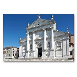 Premium Textil-Leinwand 90 x 60 cm Quer-Format Basilika San Giorgio Maggiore in Venedig, Italien | Wandbild, HD-Bild auf Keilrahmen, Fertigbild auf hochwertigem Vlies, Leinwanddruck von Marion Meyer © Stimmungsbilder1
