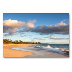 Premium Textil-Leinwand 90 x 60 cm Quer-Format Big Beach | Wandbild, HD-Bild auf Keilrahmen, Fertigbild auf hochwertigem Vlies, Leinwanddruck von Juergen Schonnop