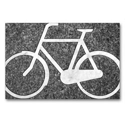 Premium Textil-Leinwand 90 x 60 cm Quer-Format Bikes forever | Wandbild, HD-Bild auf Keilrahmen, Fertigbild auf hochwertigem Vlies, Leinwanddruck von Pia Thauwald