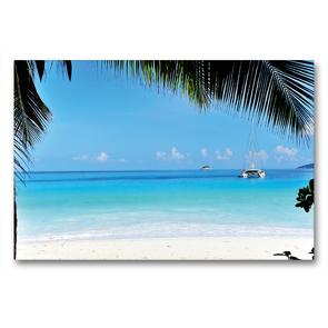 Premium Textil-Leinwand 90 x 60 cm Quer-Format Blick auf den blauen Ozean | Wandbild, HD-Bild auf Keilrahmen, Fertigbild auf hochwertigem Vlies, Leinwanddruck von Jürgen Feuerer