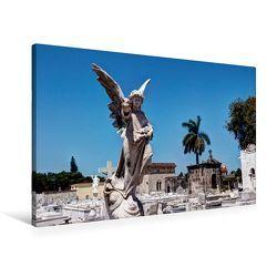 Premium Textil-Leinwand 90 x 60 cm Quer-Format Blick auf den Friedhof Havannas | Wandbild, HD-Bild auf Keilrahmen, Fertigbild auf hochwertigem Vlies, Leinwanddruck von Jens Schneider von Schneider,  Jens