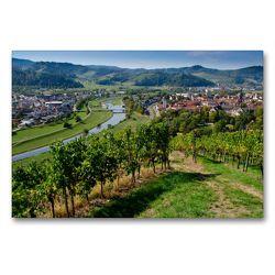 Premium Textil-Leinwand 90 x 60 cm Quer-Format Blick auf Gengenbach | Wandbild, HD-Bild auf Keilrahmen, Fertigbild auf hochwertigem Vlies, Leinwanddruck von Tanja Voigt