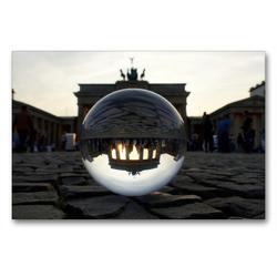 Premium Textil-Leinwand 90 x 60 cm Quer-Format Brandenburger Tor, Pariser Platz   Wandbild, HD-Bild auf Keilrahmen, Fertigbild auf hochwertigem Vlies, Leinwanddruck von Barbara Hilmer-Schröer und Ralf Schröer