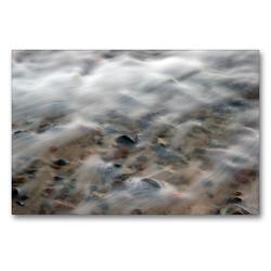 Premium Textil-Leinwand 90 x 60 cm Quer-Format Brandung | Wandbild, HD-Bild auf Keilrahmen, Fertigbild auf hochwertigem Vlies, Leinwanddruck von Katja Jentschura