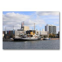 Premium Textil-Leinwand 90 x 60 cm Quer-Format Bremerhaven – Seestadt an der Nordseeküste Geburtstagskalender | Wandbild, HD-Bild auf Keilrahmen, Fertigbild auf hochwertigem Vlies, Leinwanddruck von Frank Gayde