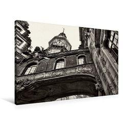 Premium Textil-Leinwand 90 x 60 cm Quer-Format Brücke vom Residenzschloß zur Kathedrale Sanctissimae Trinitatis   Wandbild, HD-Bild auf Keilrahmen, Fertigbild auf hochwertigem Vlies, Leinwanddruck von Dirk Meutzner