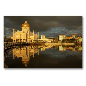 Premium Textil-Leinwand 90 x 60 cm Quer-Format Brunei | Wandbild, HD-Bild auf Keilrahmen, Fertigbild auf hochwertigem Vlies, Leinwanddruck von Peter Schickert