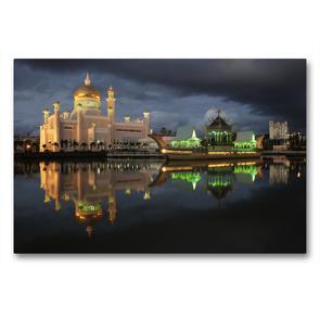Premium Textil-Leinwand 90 x 60 cm Quer-Format Brunei   Wandbild, HD-Bild auf Keilrahmen, Fertigbild auf hochwertigem Vlies, Leinwanddruck von Peter Schickert