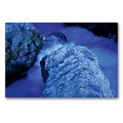 Premium Textil-Leinwand 90 x 60 cm Quer-Format Cascades du Sautadet   Wandbild, HD-Bild auf Keilrahmen, Fertigbild auf hochwertigem Vlies, Leinwanddruck von Katja ledieS