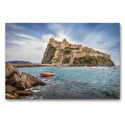Premium Textil-Leinwand 90 x 60 cm Quer-Format Castello Aragonese auf Ischia, Italien | Wandbild, HD-Bild auf Keilrahmen, Fertigbild auf hochwertigem Vlies, Leinwanddruck von Christian Müringer