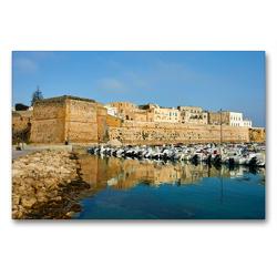 Premium Textil-Leinwand 90 x 60 cm Quer-Format Castello Otranto | Wandbild, HD-Bild auf Keilrahmen, Fertigbild auf hochwertigem Vlies, Leinwanddruck von Martin Rauchenwald