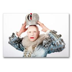 Premium Textil-Leinwand 90 x 60 cm Quer-Format Chicago Rose als Königin Elisabeth I | Wandbild, HD-Bild auf Keilrahmen, Fertigbild auf hochwertigem Vlies, Leinwanddruck von Peter Werner / wernerimages