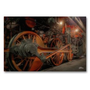 Premium Textil-Leinwand 90 x 60 cm Quer-Format Dampfgestänge | Wandbild, HD-Bild auf Keilrahmen, Fertigbild auf hochwertigem Vlies, Leinwanddruck von Danny Elskamp-D.Elskamp Photography