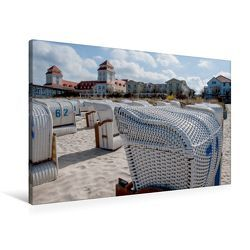 Premium Textil-Leinwand 90 x 60 cm Quer-Format Das Kur- und Grandhotel von Binz. | Wandbild, HD-Bild auf Keilrahmen, Fertigbild auf hochwertigem Vlies, Leinwanddruck von Ingo Gerlach GDT von Gerlach GDT,  Ingo