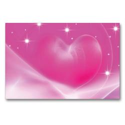 Premium Textil-Leinwand 90 x 60 cm Quer-Format Das rosa Herz   Wandbild, HD-Bild auf Keilrahmen, Fertigbild auf hochwertigem Vlies, Leinwanddruck von Claudia Burlager