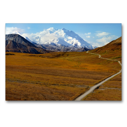 Premium Textil-Leinwand 90 x 60 cm Quer-Format Denali Nationalpark und Mt.Denali | Wandbild, HD-Bild auf Keilrahmen, Fertigbild auf hochwertigem Vlies, Leinwanddruck von Dieter-M. Wilczek