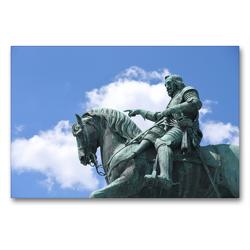 Premium Textil-Leinwand 90 x 60 cm Quer-Format Denkmal Maximilian Kurfürst von Bayern | Wandbild, HD-Bild auf Keilrahmen, Fertigbild auf hochwertigem Vlies, Leinwanddruck von Pia Thauwald