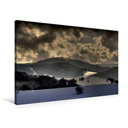 Premium Textil-Leinwand 90 x 60 cm Quer-Format Der Feldberg in der Abenddämmerung | Wandbild, HD-Bild auf Keilrahmen, Fertigbild auf hochwertigem Vlies, Leinwanddruck von Ingo Laue von Laue,  Ingo