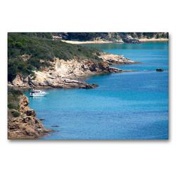 Premium Textil-Leinwand 90 x 60 cm Quer-Format Die Insel Elba | Wandbild, HD-Bild auf Keilrahmen, Fertigbild auf hochwertigem Vlies, Leinwanddruck von Walter J. Richtsteig