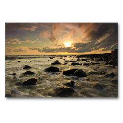 Premium Textil-Leinwand 90 x 60 cm Quer-Format Die Kraft des Meeres | Wandbild, HD-Bild auf Keilrahmen, Fertigbild auf hochwertigem Vlies, Leinwanddruck von Luxscriptura by Wolfgang Schömig