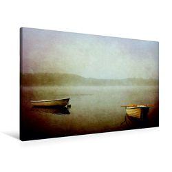 Premium Textil-Leinwand 90 x 60 cm Quer-Format Die zwei Boote | Wandbild, HD-Bild auf Keilrahmen, Fertigbild auf hochwertigem Vlies, Leinwanddruck von Heike Hultsch von Hultsch,  Heike