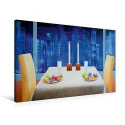 Premium Textil-Leinwand 90 x 60 cm Quer-Format Dinner in New York | Wandbild, HD-Bild auf Keilrahmen, Fertigbild auf hochwertigem Vlies, Leinwanddruck von Gerhard Kraus von Kraus,  Gerhard
