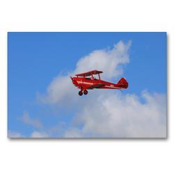 Premium Textil-Leinwand 90 x 60 cm Quer-Format Doppeldecker Einsitzer Flugzeug | Wandbild, HD-Bild auf Keilrahmen, Fertigbild auf hochwertigem Vlies, Leinwanddruck von Frank Gayde