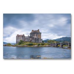 Premium Textil-Leinwand 90 x 60 cm Quer-Format Eilean Donan Castle | Wandbild, HD-Bild auf Keilrahmen, Fertigbild auf hochwertigem Vlies, Leinwanddruck von Harald Schnitzler