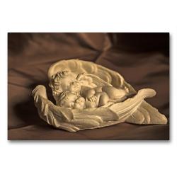 Premium Textil-Leinwand 90 x 60 cm Quer-Format Engel – Die Worte der Liebe | Wandbild, HD-Bild auf Keilrahmen, Fertigbild auf hochwertigem Vlies, Leinwanddruck von Andrea Potratz