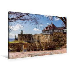 Premium Textil-Leinwand 90 x 60 cm Quer-Format Esslinger Burg | Wandbild, HD-Bild auf Keilrahmen, Fertigbild auf hochwertigem Vlies, Leinwanddruck von Horst Eisele von Eisele,  Horst