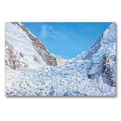 Premium Textil-Leinwand 90 x 60 cm Quer-Format Ewiges Eis am Khumbu-Gletscher am Mount Everest | Wandbild, HD-Bild auf Keilrahmen, Fertigbild auf hochwertigem Vlies, Leinwanddruck von CALVENDO