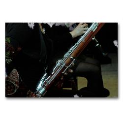Premium Textil-Leinwand 90 x 60 cm Quer-Format Fagott | Wandbild, HD-Bild auf Keilrahmen, Fertigbild auf hochwertigem Vlies, Leinwanddruck von Martina Marten