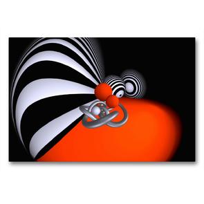 Premium Textil-Leinwand 90 x 60 cm Quer-Format Farben Formen Fisheye   Wandbild, HD-Bild auf Keilrahmen, Fertigbild auf hochwertigem Vlies, Leinwanddruck von IssaBild