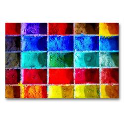 Premium Textil-Leinwand 90 x 60 cm Quer-Format Farbpulver | Wandbild, HD-Bild auf Keilrahmen, Fertigbild auf hochwertigem Vlies, Leinwanddruck von Steffani Lehmann (Hrsg.)