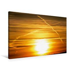 Premium Textil-Leinwand 90 x 60 cm Quer-Format Farbspiele am Himmel | Wandbild, HD-Bild auf Keilrahmen, Fertigbild auf hochwertigem Vlies, Leinwanddruck von Sven Herkenrath