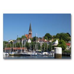 Premium Textil-Leinwand 90 x 60 cm Quer-Format Flensburger Ostufer   Wandbild, HD-Bild auf Keilrahmen, Fertigbild auf hochwertigem Vlies, Leinwanddruck von Steffani Lehmann