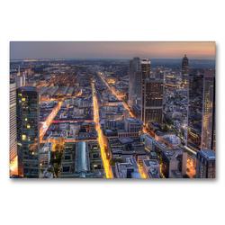 Premium Textil-Leinwand 90 x 60 cm Quer-Format Frankfurt/Main – Maintower | Wandbild, HD-Bild auf Keilrahmen, Fertigbild auf hochwertigem Vlies, Leinwanddruck von TJPhotography (Thorsten Jung)