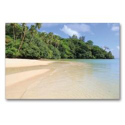 Premium Textil-Leinwand 90 x 60 cm Quer-Format Französisch-Polynesien – Huahine | Wandbild, HD-Bild auf Keilrahmen, Fertigbild auf hochwertigem Vlies, Leinwanddruck von N N