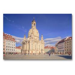 Premium Textil-Leinwand 90 x 60 cm Quer-Format Frauenkirche | Wandbild, HD-Bild auf Keilrahmen, Fertigbild auf hochwertigem Vlies, Leinwanddruck von Steffen Gierok