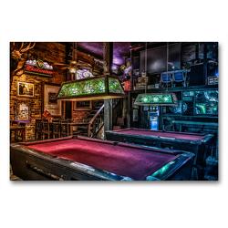 Premium Textil-Leinwand 90 x 60 cm Quer-Format Freizeit Billard | Wandbild, HD-Bild auf Keilrahmen, Fertigbild auf hochwertigem Vlies, Leinwanddruck von W.W. Voßen – Herzog von Laar am Rhein