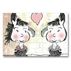Premium Textil-Leinwand 90 x 60 cm Quer-Format Freundschaft mit viel Herz CB | Wandbild, HD-Bild auf Keilrahmen, Fertigbild auf hochwertigem Vlies, Leinwanddruck von Claudia Burlager